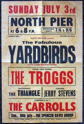 The Yardbirds Repro Blackpool North Pier 1966 Concert Poster . Jimmy Page