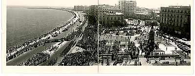 Ww2 Photograph Alexandria Egypt Waterfront British Army March Past Indian Troops