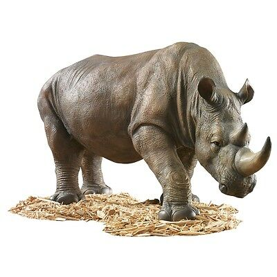 African Safari Rhino Garden Sculpture Statue for Home or Garden