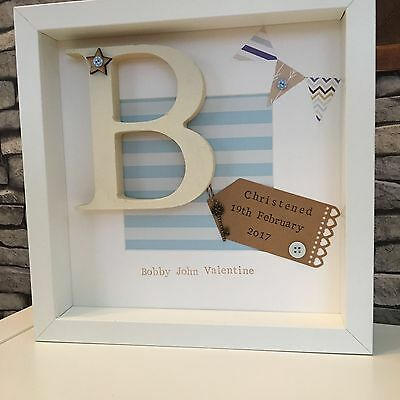 �� Personalised New Baby, Birth, Letter Nautical Boy & Girl Frames Gift
