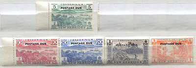 New Hebrides Set of 5 mint MNH POSTAGE DUE stamps issued 1957 - FREE UK POSTAGE