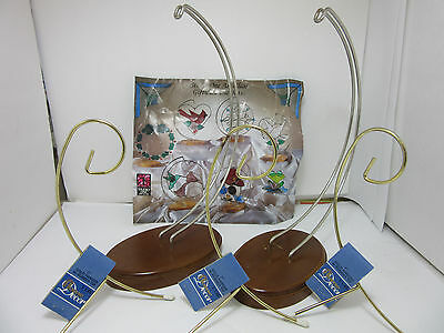 Stained Art Glass Supplies Suncatcher Display Stands wire hangers wood base Lot