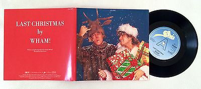 "Wham! Last Christmas/Everything She Wants Double A 1984 7"" Bifold Collectors Ed."