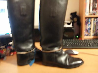 Top Class Stylo Black Dressage/ Long Riding Boots Size 5,top Order,38Cm Calf