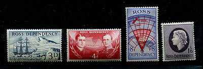 Ross Dependency 1957 Set of 4 mint MNH stamps - FREE UK POSTAGE