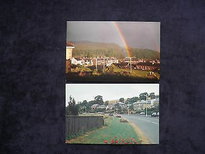 2 Vintage Scottish Postcards of Earlston, Lauder Road and Thorn Street