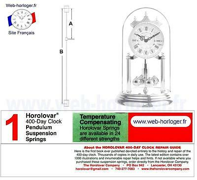 Fil pour suspension Horloge Pendule 400 Jours Horolovar - Bergeon - Eufor