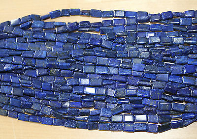 Lapis Lazuli Hand Cut Rectangular Beads AB- Full Strand