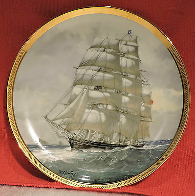 Lovely Cutty Sark China Plate Franklin Mint Legendary Ships 1885 Painting