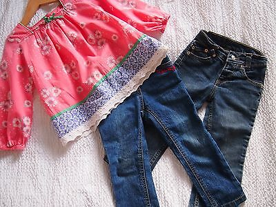 Girls 'Victoria Beckham' Jeans and Monsoon Blouse age 2years