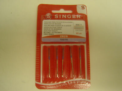 Singer Sewing Machine Needles Pkt Of 5 Size100/16 Woven