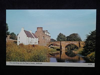 Vintage Scottish Postcard of The Auld Brig and the Piper's House, Jedburgh