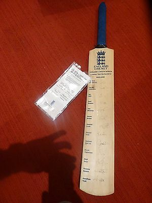 2012 England cricket bat with all players' authentic signings