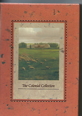AUSTRALIA POST 1990 Set of 3 HERITAGE Books THE COLONIAL COLLECTION  Mint Stamps