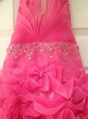 Girls communion party prom dress age 10/11 pink