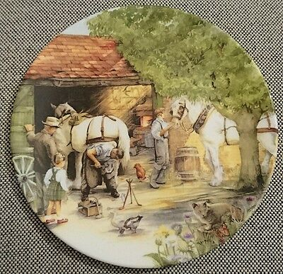 Royal Doulton Bone China made in England Susan Neale Teller Plate the Blacksmith