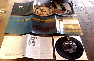 MAN ON THE MOON Philips 1st Promo Only UK PS EP 1969 Space-Age NASA Apollo 11