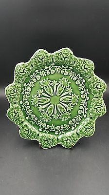"""Bordallo Pinheiro Portugal Green Cabbage Carrot and Tomato Lunch Plates 8 1/4"""""""