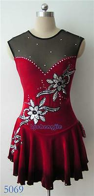 New custom ice Figure skating Competition dress 5069