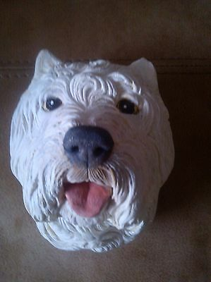 Bossons style Legend Chalkware...West Highland Terrier...VGC