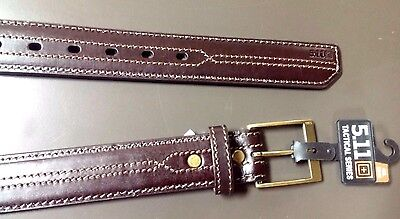 ~!Leather 5.11 Tactical Series Stitched,Military,Police Uniform Belt.52-54. 4XL~