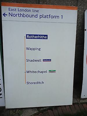 RARE East London Line Diagram diagram sign from Rotherhithe Underground Station