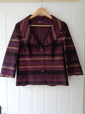 Beautiful Purple Shaw Collar Jacket From Alex & Co Size 12 Prefect For Weddings