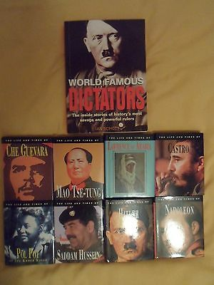 World Famous Dictators by Ian Schott & 8 x Life and times: Saddam, Mao, Pol Pot,