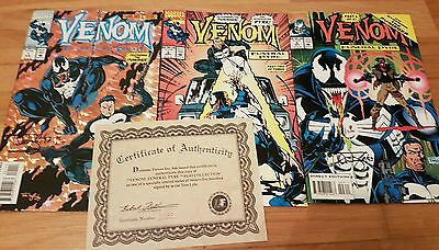 Venom Funeral Pyre 1 -3 signed by artist Tom Lyle certificate of Authenticity