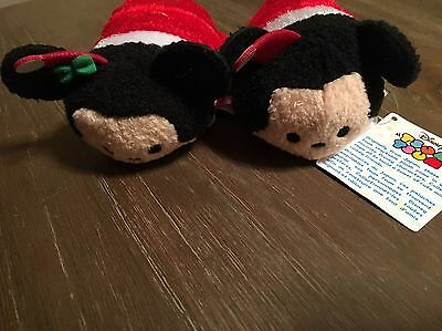 Disney 2014 CHRISTMAS HOLIDAY MICKEY MOUSE & Minnie Mouse Tsum Tsum - On Hand