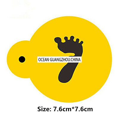 2 Pcs Packed Baby Foot Cookie Cake Stencil Decorate Mould Fondant Biscuit Tool