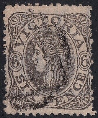 Stamp Australia - Victoria 6d Beaded Oval - WM Six Pence.