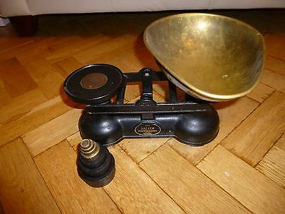 The Salter vintage scales with imperial  weights - Staffordshire Brass weighing