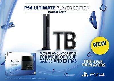 1TB Sony PlayStation 4 (PS4) Ultimate Player Edition Console - Brand New BNIB