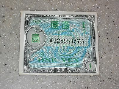 Japan 1945 1 Yen Military Occupation Currency, Circulated Banknote