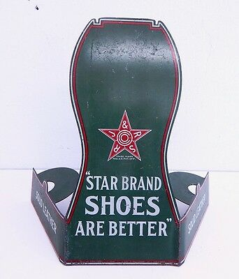 Vintage Star Brand Shoes Sign Antique
