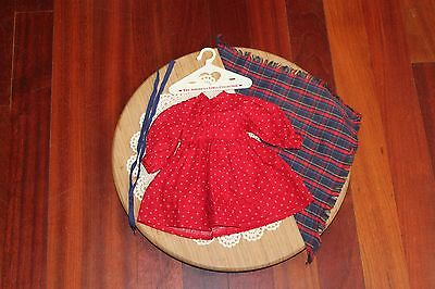 American Girl Doll Kirsten's RETIRED School Dress/Outfit,EUC! Rare Early Pattern