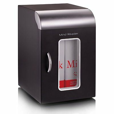 Mind Reader REF01BLK Cube Mini Coffee Station Refrigerator, Black