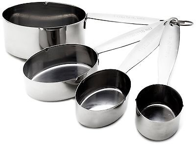 Cuisinox Measuring Cup, Set of 4, Stainless Steel