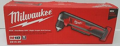 """New Milwaukee M18 Cordless 3/8"""" Right Angle Drill Driver Model 2615-20"""