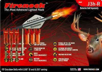 FIRENOCK Hunting crossbow lighted nock J3h-R for Mission (Standard package)