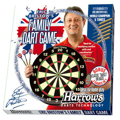 Harrows Eric Bristows Family Dart Game Outdoor Game Pool Room NEW