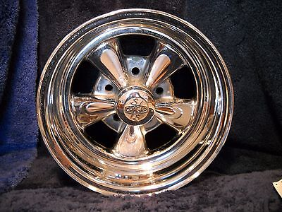 "Used Cragar S/S 8034 14x6 Deep Dish- Direct Bolt 5 on 43/4"" BC Camaro Chevelle"