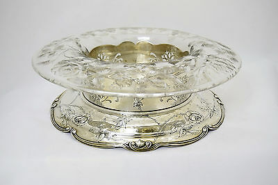 Gorham sterling silver and glass centerpiece