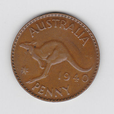 1940M Australian Kgvi Penny - Very Nice Collectable Coin
