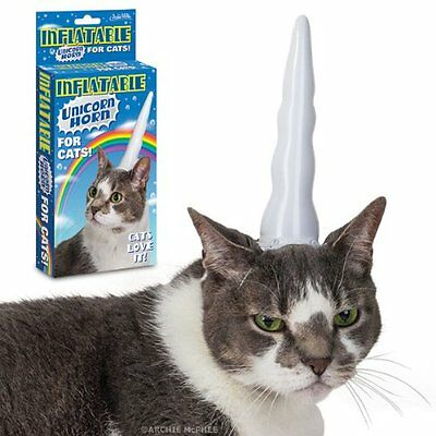 Accoutrements 12364 Inflatable Unicorn Horn for Cats