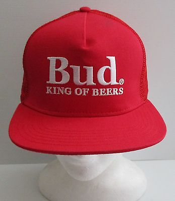 Budweiser Beer brand new adjustable size hat cap for home bar or collector