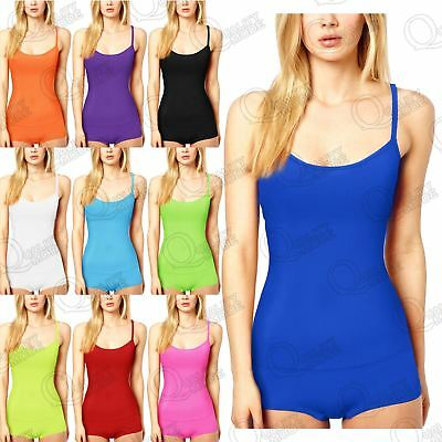 Womens Hot Pants & Vest Top Ladies Microfiber Lycra Dance Girls Outfit Gym Short