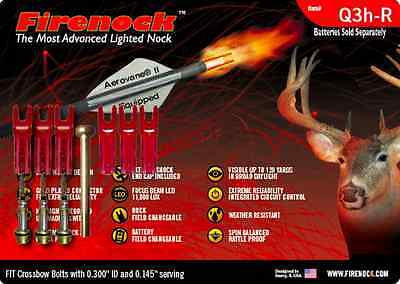 FIRENOCK Hunting crossbow lighted nock Q3h-R for Scorpyd (Standard package)