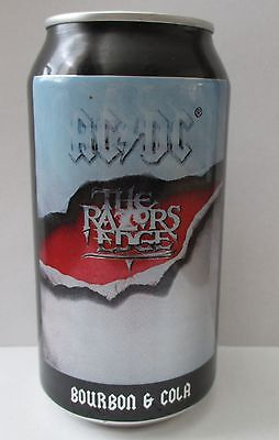 AC DC The Razors Edge bourbon and cola collector 375ml beer can for home bar